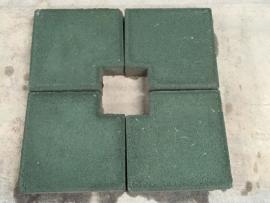 万州校区植草砖停车场施工
