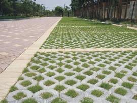 景区植草砖停车场施工
